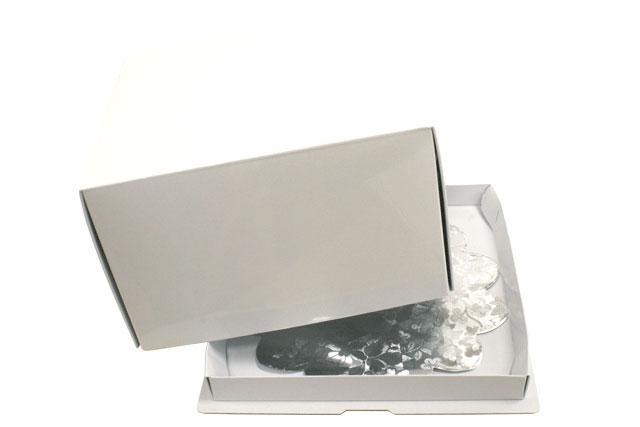 OUTLET SALE デコレーションケーキ用ボックス 送料0円 かぶせデコ箱5寸ホワイト 1枚