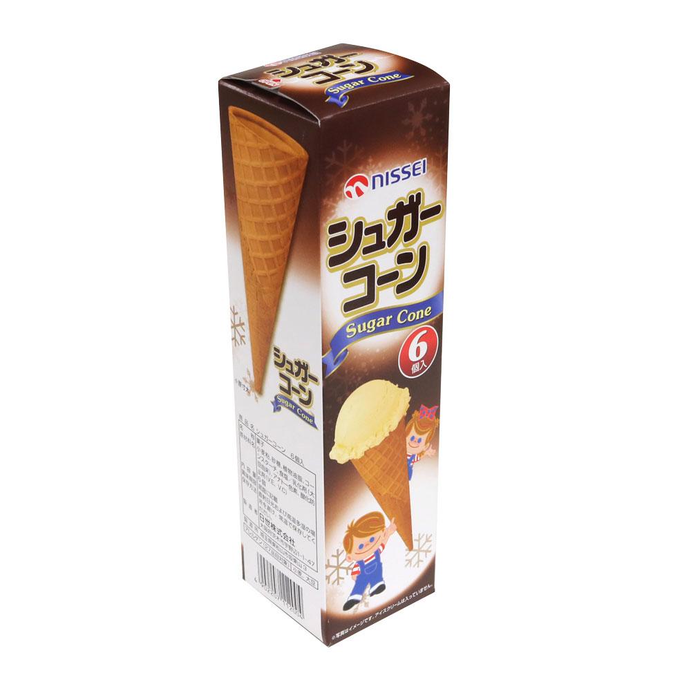 日世 新作入荷!! 日本正規代理店品 シュガーコーン 6入アイスクリームフェア