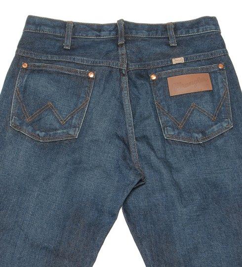 兰格勒服装W113-326 13MWZ牛仔·cut/深色蓝色缝边免费/牛仔裤/兰格勒服装/人/wrangler