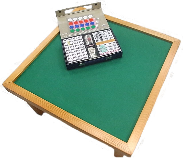 高級麻雀牌と卓のセット【なにわ】(マージャン卓セット)