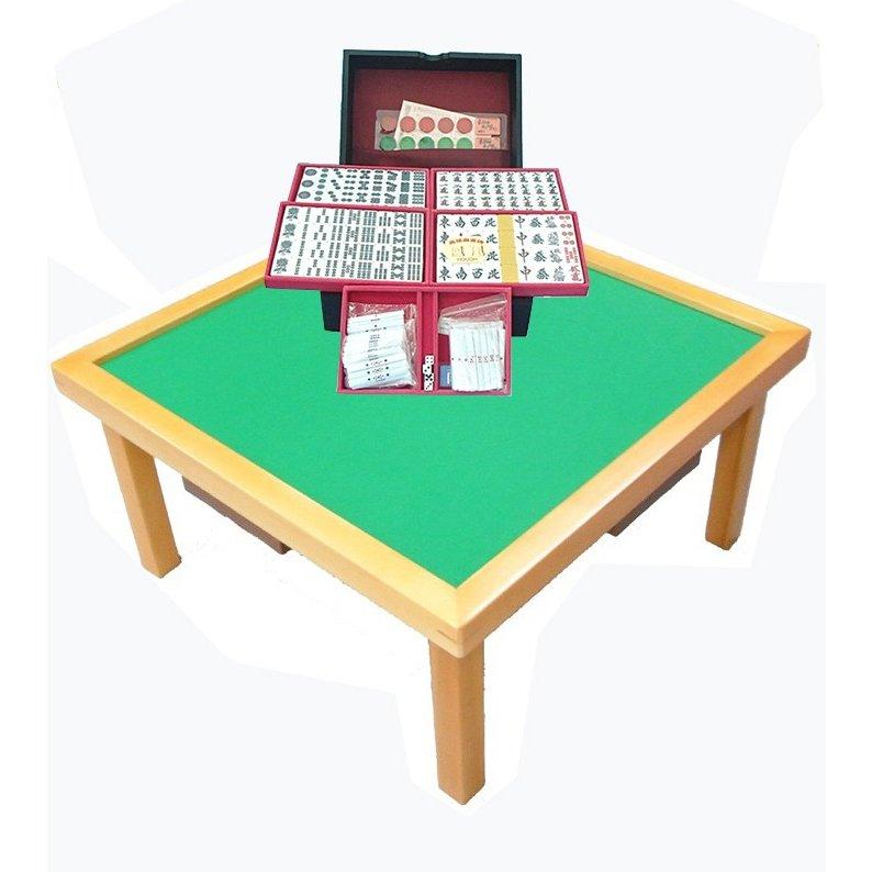 高級麻雀牌と卓のセット【鳳凰】(マージャン卓セット)