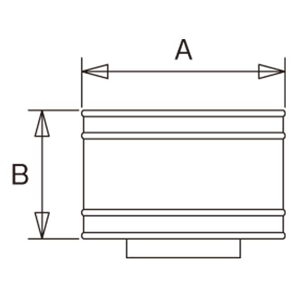 【アンデルセンチムニー】SRC 2重断熱煙突(内筒径150mm用) 『レインボートップ ブラック』