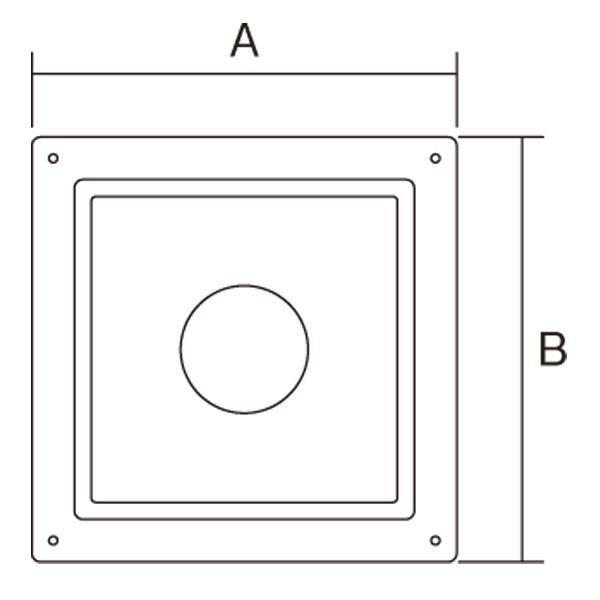 【アンデルセンチムニー】SRC 2重断熱煙突(内筒径150mm用) 『化粧板DX (500mm×500mm) プレーン』