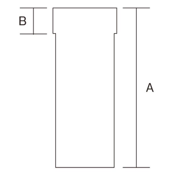 【アンデルセンチムニー】室内用煙突(筒径152mm) 『スライド直筒 耐熱焼付黒塗装』