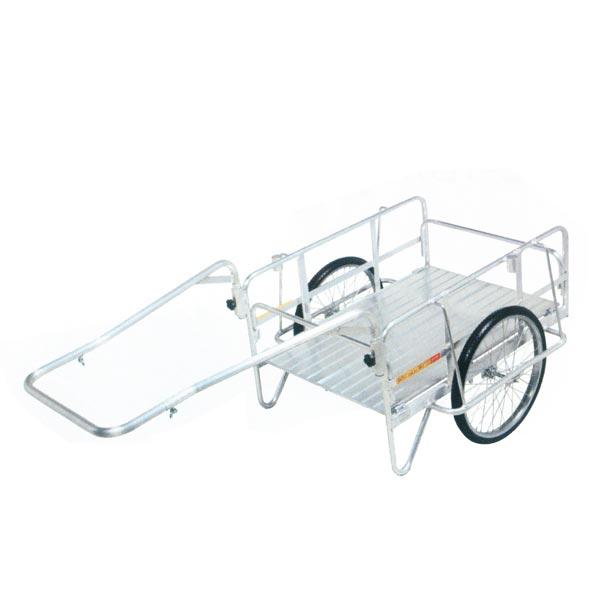 【SHOWA/昭和ブリッジ】アルミ製折りたたみ式リアカー ハンディキャンパー S8-A1[リアカー/作業台車]