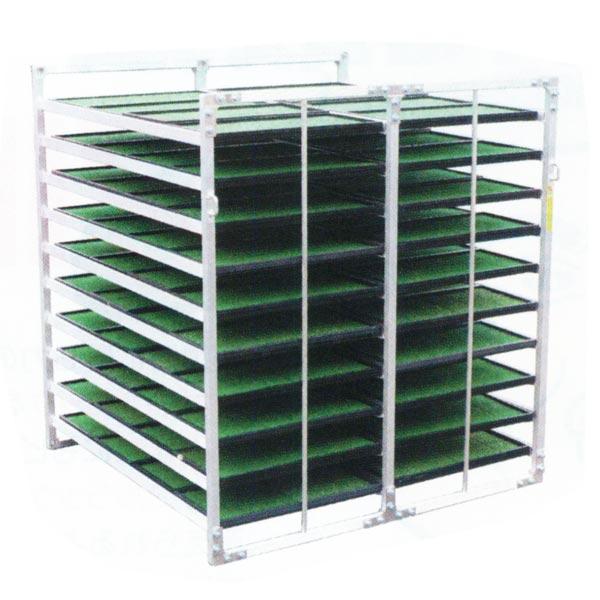 【SHOWA/昭和ブリッジ】水平収納専用苗箱収納棚小規模農家向けNS-80[苗箱/収納棚]