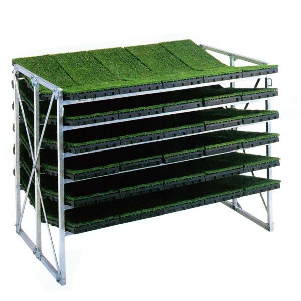 【SHOWA/昭和ブリッジ】斜め収納専用 苗箱収納棚 NC-60KH[苗箱/収納棚]