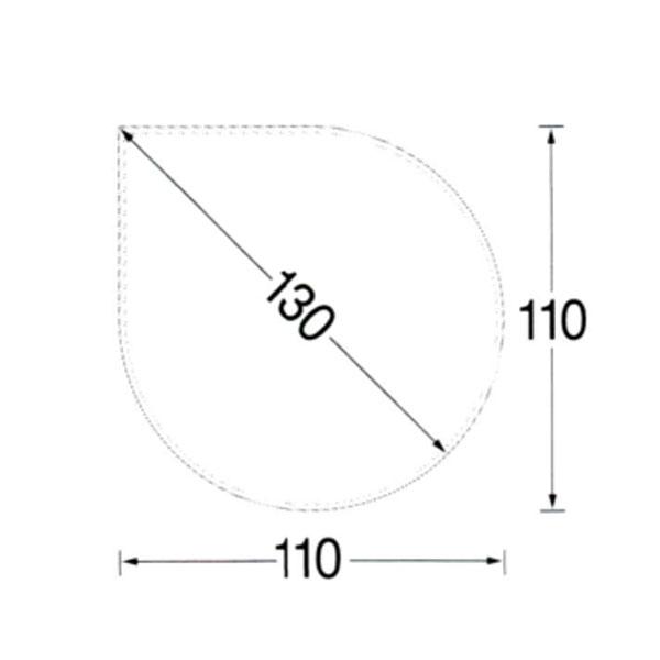 【MORSO/モルソー】薪ストーブ用品 『ガラス フロアプレート ティアドロップ型』〈品番523518〉