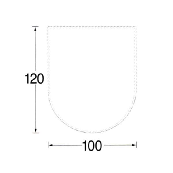 【MORSO/モルソー】薪ストーブ用品 『ガラス フロアプレート ハーフサークル型』〈品番523519〉