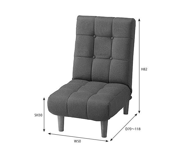 フロアソファ「Join」1P 1人掛け 一人用 リクライニング機能 ファブリック 布張り 脚付き 座椅子 フロアチェア ローソファ ロータイプ可 ポケットコイル シンプル北欧ヴィンテージ おしゃれ 一人暮らし コンパクト 省スペース[d]