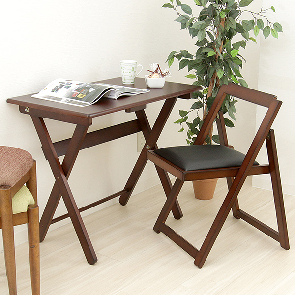 ... Wood folding Desk u0026&; Chair two points set wooden desk and in the desk chair ... & marusiyou | Rakuten Global Market: Wood folding Desk u0026amp; Chair two ...