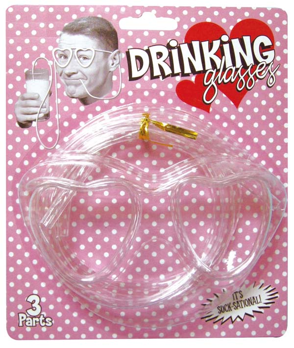 ★ funny glasses straw heart. household goods, kitchen party cups glasses, straws, glasses
