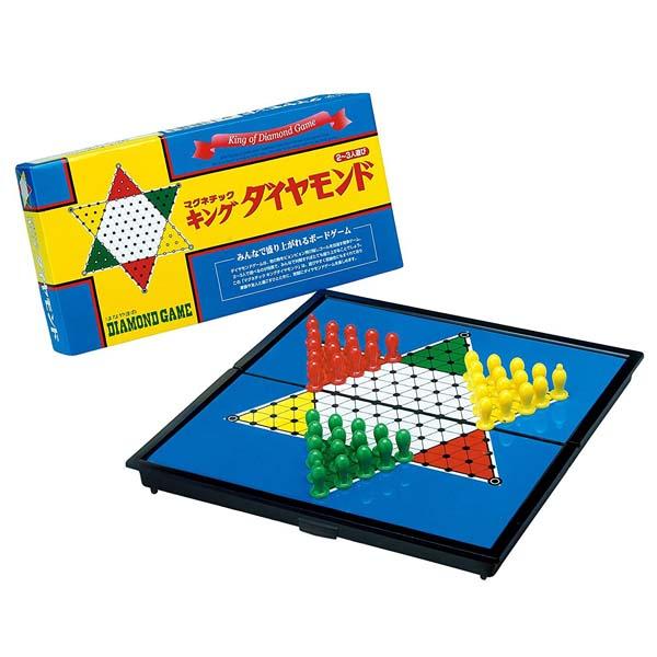 日本 ボードゲーム ダイヤモンドゲーム 送料0円 マグネチック ++ キングダイヤモンド ハナヤマ