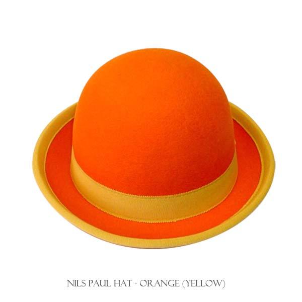 ニルスポールハット・ダービーハット・イエロー&オレンジ【ナランハ】ジャグリング・大道芸・帽子・ハット★