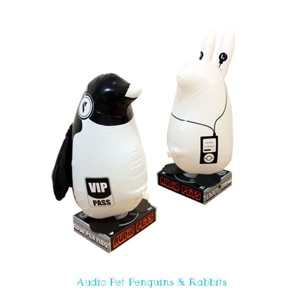 おもしろ雑貨 スマートフォン オーディオペット ペンギン ウサギ セール特価 SAG スマホ ++ 風船スピーカー 商い スピーカー