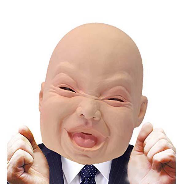 笑うあかちゃんマスク オガワスタジオ ラテックスマスク ゴムマスク ++