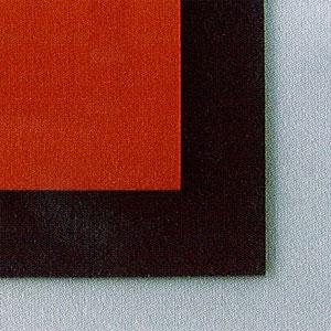サンポリマー シリコンスポンジシート Si-300 厚8mmx1Mx1M 赤 黒 皮膜面30°±5° 耐熱温度200°C 独立発泡