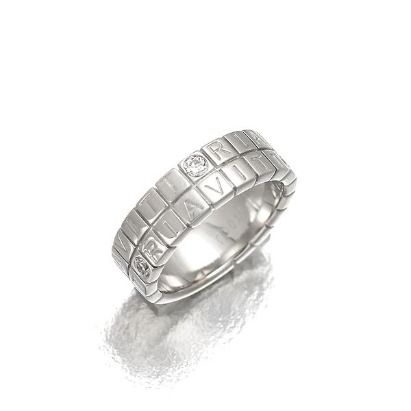 【Ponte Vecchio】ポンテヴェキオ ヴィットリア イオエテ リング K18WG/D0.15ct ホワイトゴールド 4Pダイヤモンド 9号 7.7g