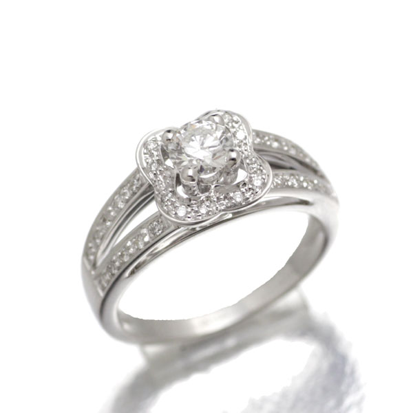 モーブッサン MAUBOUSSIN K18WG ダイヤモンド リング D0.288ct 6.5号