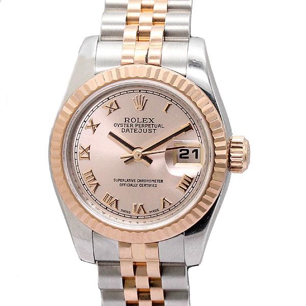 ロレックス ROLEX 179171 デイトジャスト レディース腕時計 K18PG/SS 自動巻