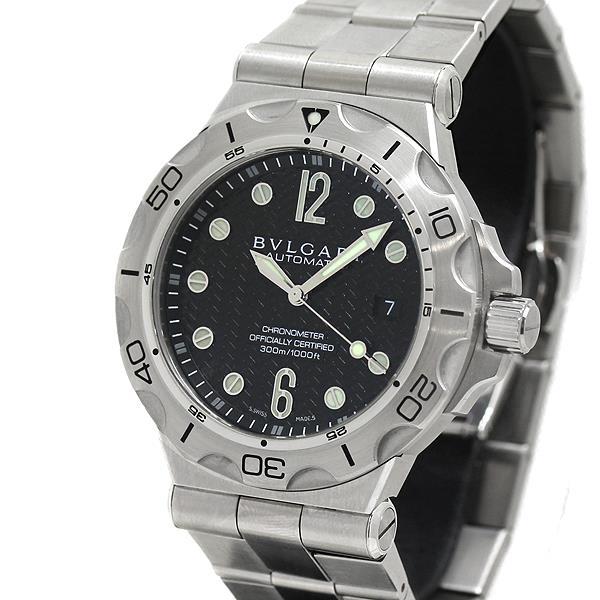 ブルガリ BVLGARI ディアゴノ スクーバ DP42SSD SS メンズ腕時計 自動巻 300m