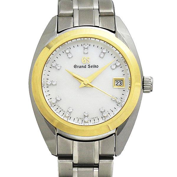 セイコー SEIKO グランドセイコー GS エレガンスコレクション レディース腕時計 チタン/K18 シェル文字盤 ダイヤインデックス クォーツ 4J52-0AG0