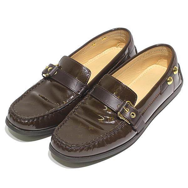 ルイヴィトン LOUIS VUITTON モノグラム エナメル レザー 靴 ローファー レディースシューズ サイズ36