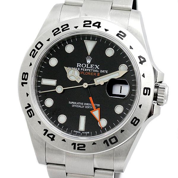 ロレックス ROLEX 216570 エクスプローラー2 黒文字盤 メンズ腕時計 G番