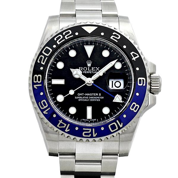ロレックス ROLEX GMTマスター2 青黒ベゼル 116710BLNR メンズ腕時計 SS 自動巻 ランダム
