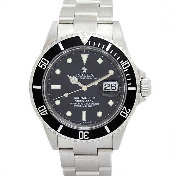 ロレックス ROLEX サブマリーナ デイト 16610 黒文字盤 メンズ腕時計 D番 自動巻 国際保証書付き