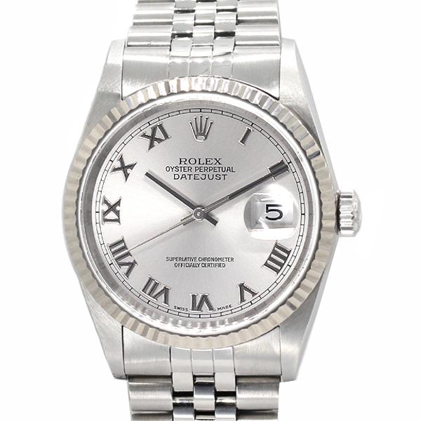 ロレックス ROLEX デイトジャスト 16234 SS/WG グレー文字盤 ローマ Y番 メンズ腕時計
