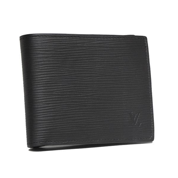 ルイヴィトン LOUIS VUITTON エピ 二つ折り財布 ポルトフォイユ・マルコNM ノワール M62289