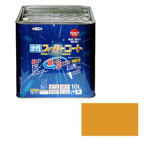 【送料無料】アサヒペン 水性スーパーコート(品番:10L シトラスイエロー)