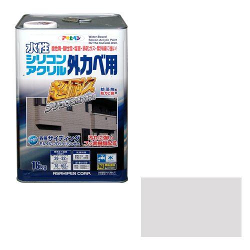 【送料無料】アサヒペン 水性シリコンアクリル外かべ用(品番:16KG ソフトグレー)