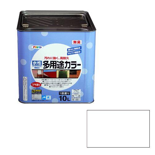 アサヒペン 水性多用途カラー(品番:10L 白)