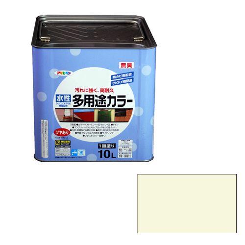 アサヒペン 水性多用途カラー(品番:10L ミルキーホワイト)