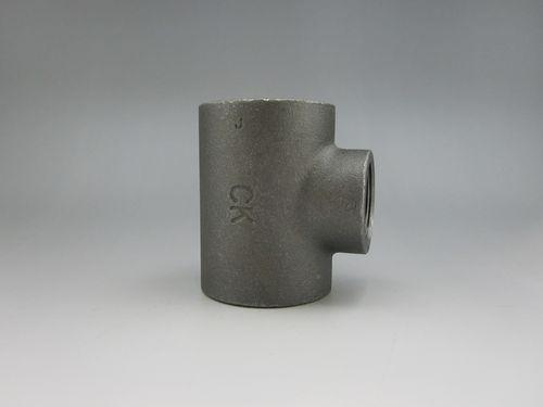 【送料無料】CK金属 黒継手 異径チーズ 100A×25A(4B×1B)(品番:黒 RT 100×25)