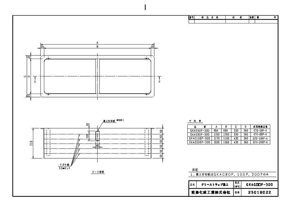 【送料無料】【納期:5営業日以内発送】前澤化成工業 FRP製グリーストラップ用嵩上 GKAC型(品番:GKAC100P-300)『81546』