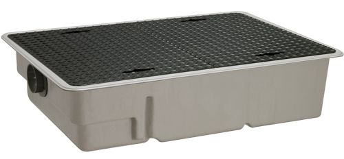 【送料無料】【納期:5営業日以内発送】前澤化成工業 FRP製グリーストラップ パイプ流入超浅型 GT-XL-P(品番:GT-XL40P 鉄蓋付)『81652』