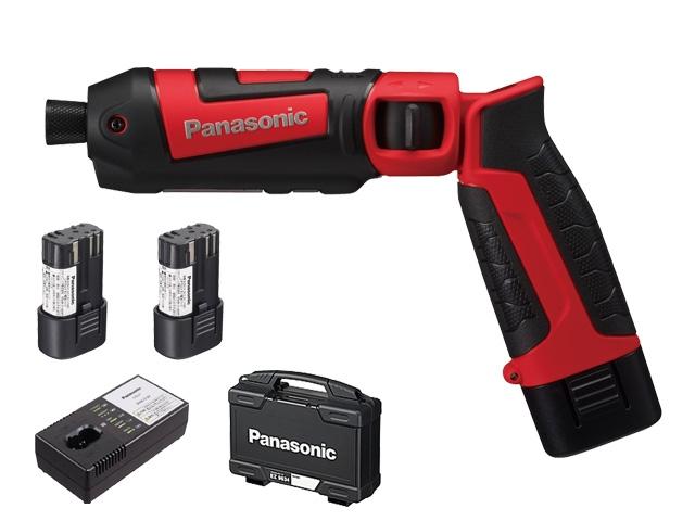 【即納】【送料無料】パナソニック スティックインパクトドライバー 7.2V 電池セット 赤(品番:EZ7521LA2S-R)
