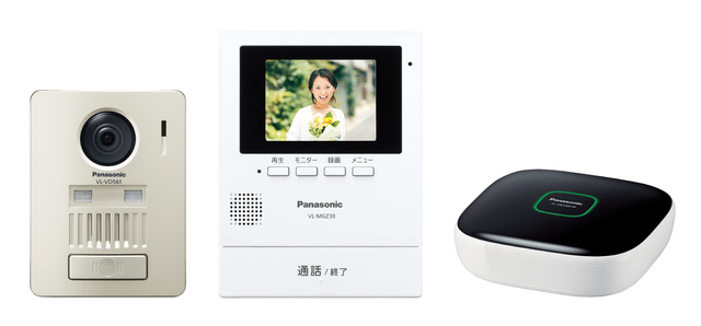 【即納】【送料無料】パナソニック モニター壁掛け式ワイヤレステレビドアホンキット ホームユニット付(品番:VL-SGZ30K)