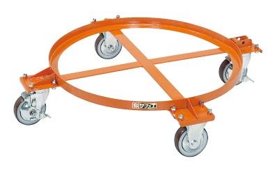 【送料無料】【メーカー取寄品(代引き決済時、要問合せ)】サカエ 円形ドラム台車(品番:DR-1S)『211672』荷役・運搬機器