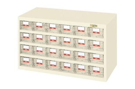【送料無料】【メーカー取寄品(代引き決済時、要問合せ)】サカエ ハニーケース・樹脂ボックス(品番:HFS-24TLI)『143374』工具保管