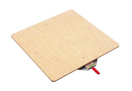 【送料無料】【メーカー取寄品(代引き決済時、要問合せ)】サカエ クルクル回転盤・スチール製・合板天板(品番:KS-40T)『036125』作業台