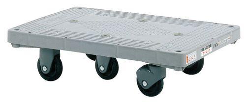 【送料無料】【メーカー取寄品(代引き決済時、要問合せ)】サカエ 樹脂平台車 サイレントキャスター(品番:LHT-50S)『211424』荷役・運搬機器