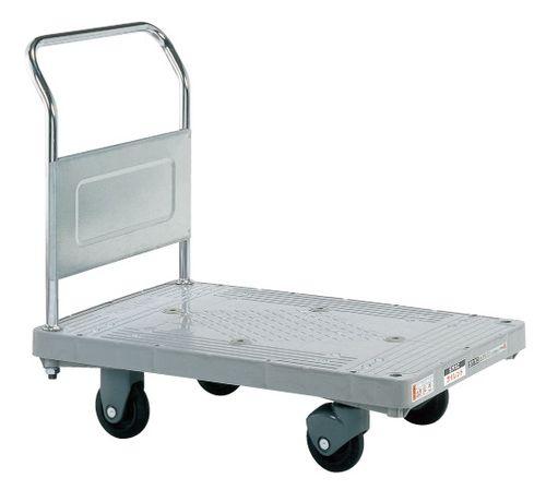 【送料無料】【メーカー取寄品(代引き決済時、要問合せ)】サカエ 樹脂ハンドカー サイレントキャスター 取手固定式(品番:LHT-20KS)『219947』荷役・運搬機器