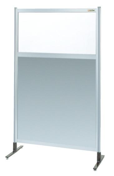【送料無料】【メーカー取寄品(代引き決済時、要問合せ)】サカエ パーティション 透明塩ビ(上) アルミ板(下)タイプ(単体)(品番:NAE-55NT)『060229』パネルハンガー・パーティション