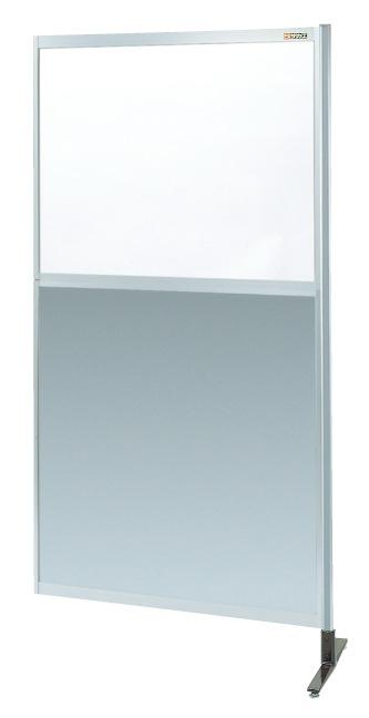 【送料無料】【メーカー取寄品(代引き決済時、要問合せ)】サカエ パーティション 透明塩ビ(上) アルミ板(下)タイプ(連結)(品番:NAE-36NR)『060210』パネルハンガー・パーティション