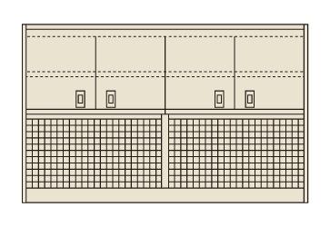 【送料無料】【メーカー取寄品(代引き決済時、要問合せ)】サカエ ピットイン上部架台(品番:PN-2HMPCK)『254923』工具保管