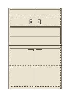 【送料無料】【メーカー取寄品(代引き決済時、要問合せ)】サカエ ピットイン(品番:PN-H22D)『250559』工具保管